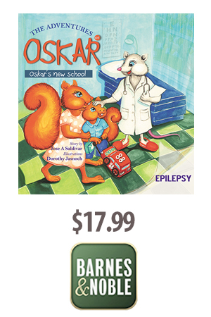 Ad for The Adventures of Oskar the Squirrel Book - purchase at Barnes and Noble